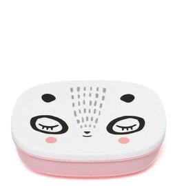 Petit Monkey Petit Monkey Lunchbox Panda pink