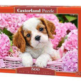 Castorland Castorland Pup in roze bloemen (500 stukjes)