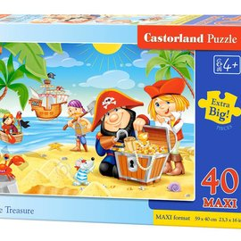 Castorland Castorland Piratenschat (40 maxi stukjes)