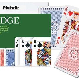 Piatnik Set hoge kwaliteit Piatnik bridge speelkaarten, scoreblok  en spelregels