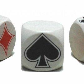 Hotgames Klaverjas Troeftrekker dobbelsteen hout 30 mm (per stuk)