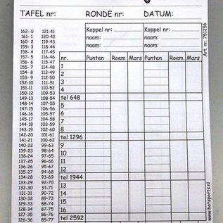 Hotgames Klaverjas scoreblok 100 vel 21x15cm