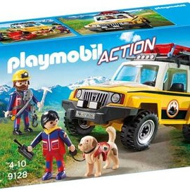 Playmobil Playmobil - Reddingswerkers met Terreinwagen (9128)
