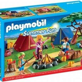 Playmobil Playmobil - Tentenkamp met kampvuur (6888)
