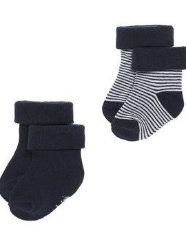 Noppies Socks 2pck guzzi navy 3-6