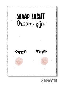 Miekinvorm Miekinvorm Poster A3 'Slaap zacht, droom fijn'