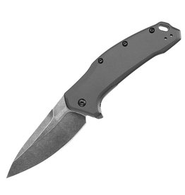 Kershaw Link Gray Aluminum Blackwash, Folding Blade