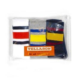 Tellason Striped Crew 3-Pack Socks