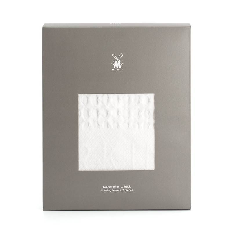 Mühle Shaving Towel with Square Waffel Pattern