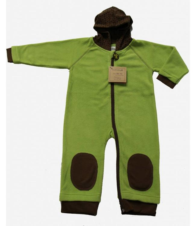 Ducksday Ducksday Fleece-Anzug lime/braun