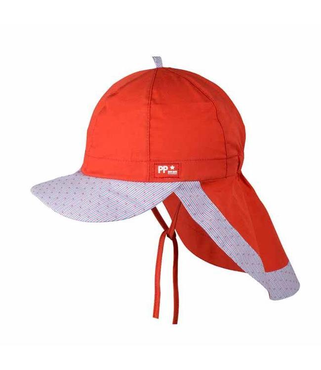 pure pure pure pure Cap mit UV-Schutz lava rot