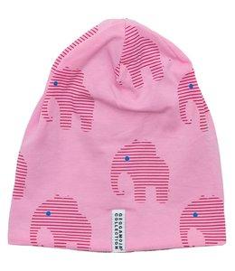 Geggamoja Geggamoja Wintermütze Elefanten rosa Fleece