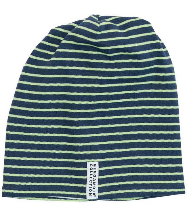 Geggamoja Geggamoja Mütze Streifen grün/marine
