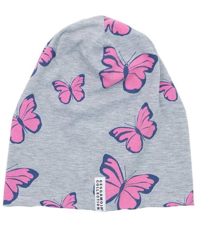 Geggamoja Geggamoja Mütze Limited Edition Pink Butterfly