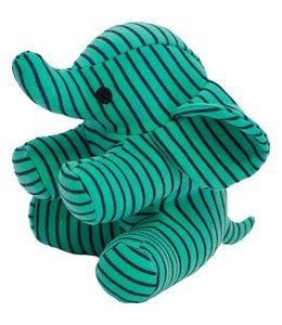 Geggamoja Geggamoja Kuscheltier Elefant grün/marine