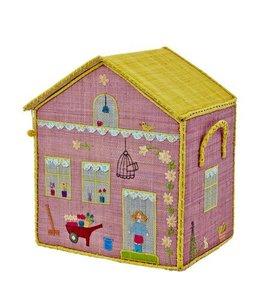 RICE Rice Spielzeugkiste Girls Cottage mittel