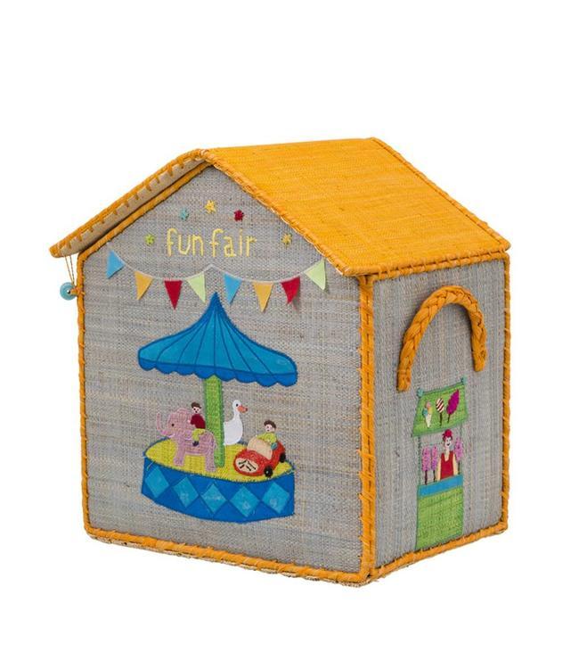 RICE Rice Spielzeugkiste Boys Houses klein
