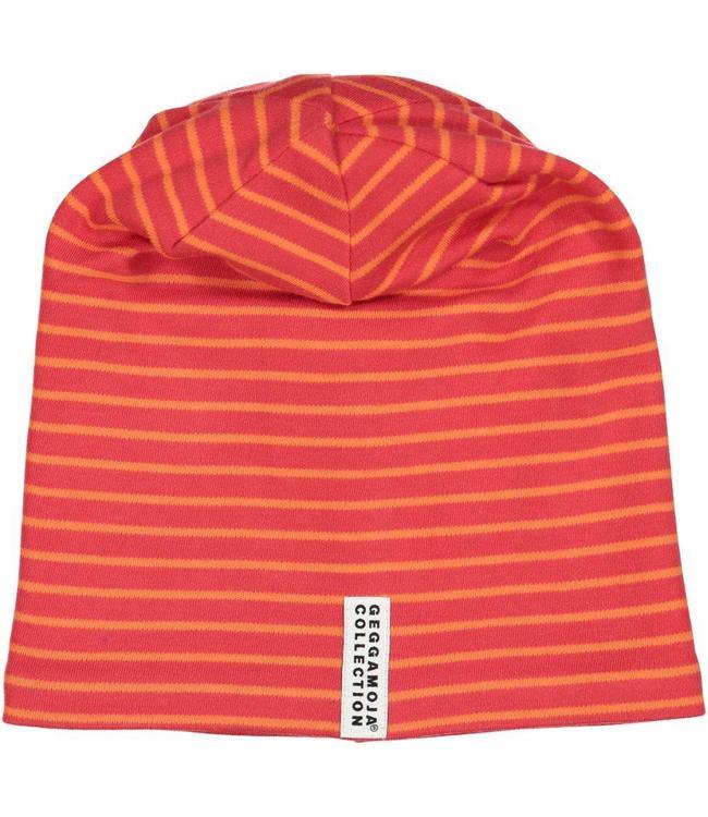 Geggamoja Geggamoja Mütze Streifen rot/orange