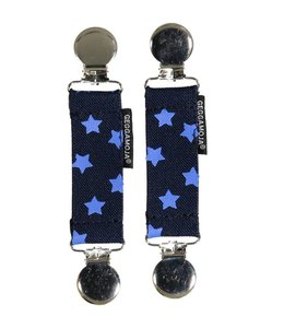 Geggamoja Geggamoja Clips Handschuhe Sterne blau