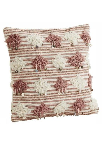 Madam Stoltz Cushion With Pompons