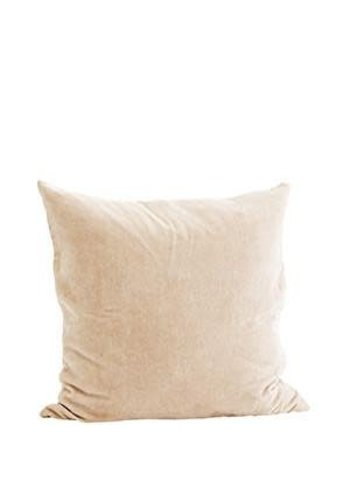 Madam Stoltz Velvet Cushion Nude