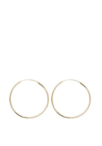 Les Soeurs Jane Hoops Medium Gold