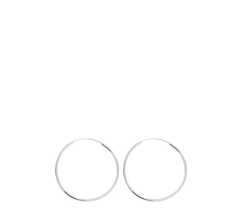 Jane Hoops Small Silver