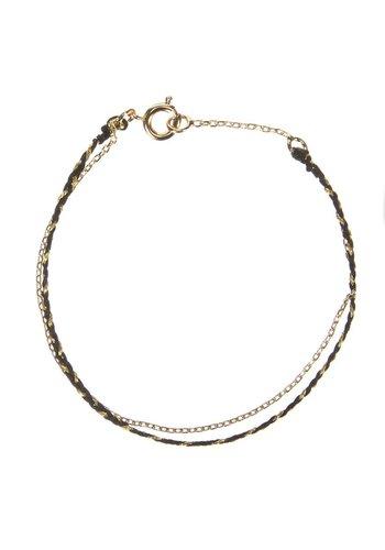 Les Soeurs Rani Double Bracelet Black