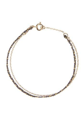 Les Soeurs Rani Double Bracelet Grey