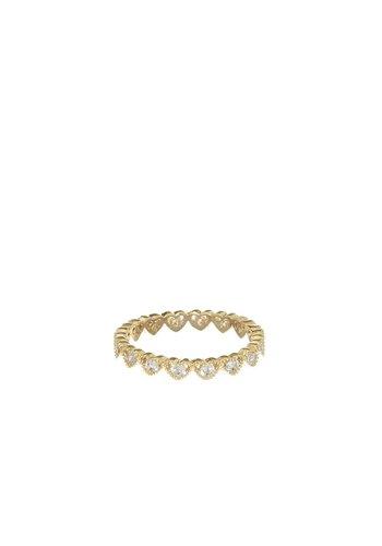 Les Soeurs Cezanne Hearts Ring Gold