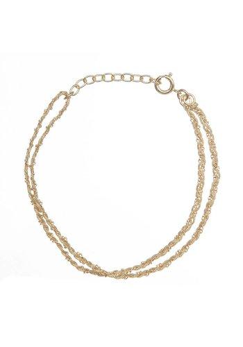 Les Soeurs Rina Double Bracelet Beige Gold