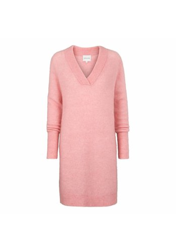 Second Female Brook Knit V-neck Dress Blush