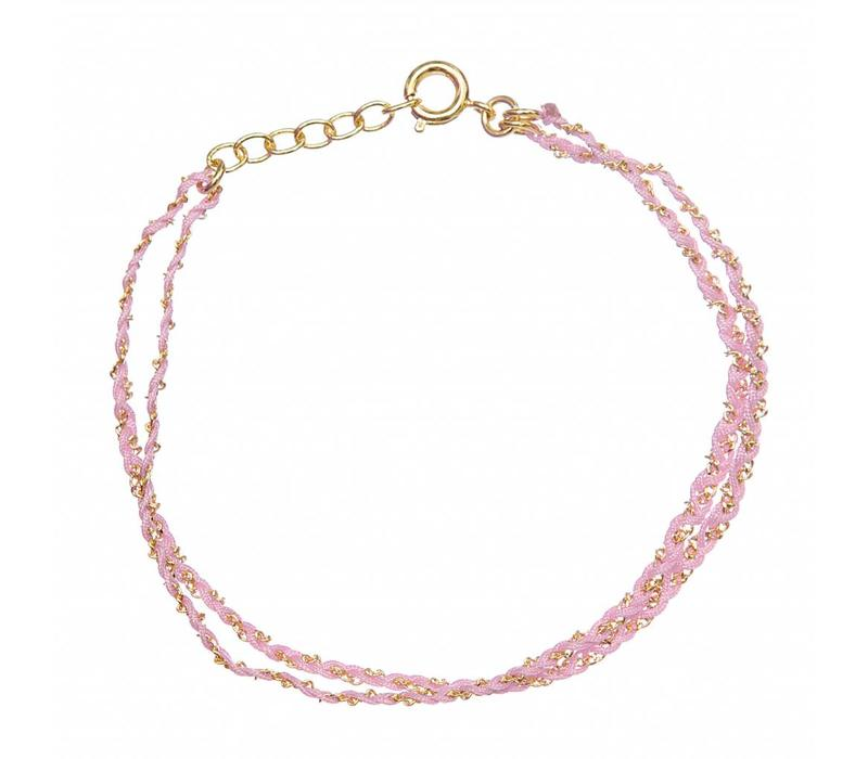 Rina Double Bracelet Light Pink Gold