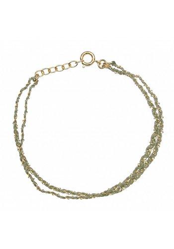 Les Soeurs Rina Double Bracelet Khaki Gold