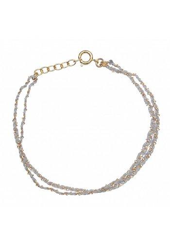 Les Soeurs Rina Double Bracelet Grey Gold