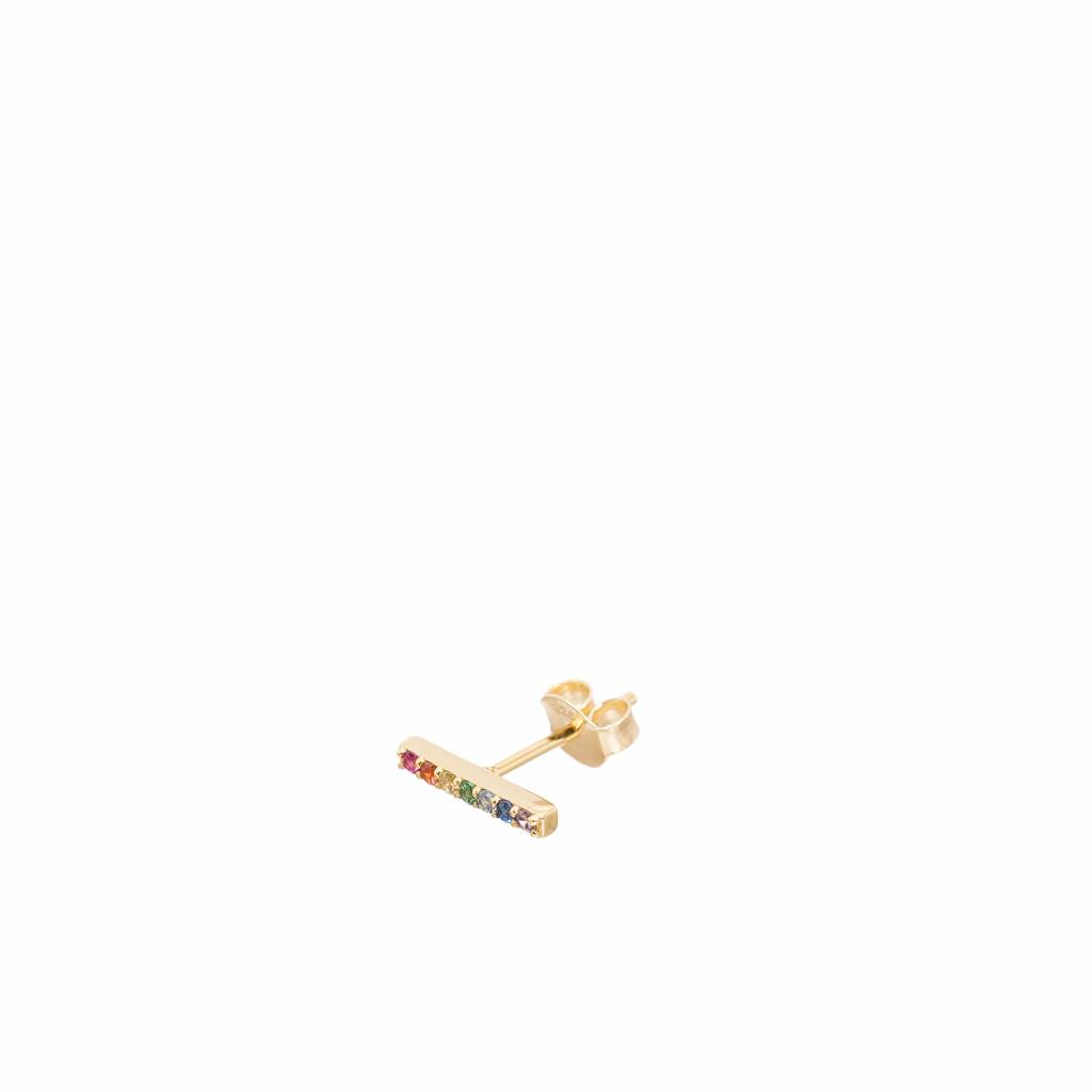 Jolie Barre Strass Multi Gold