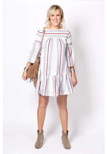 The Korner Dress 8127033 Off White/Red