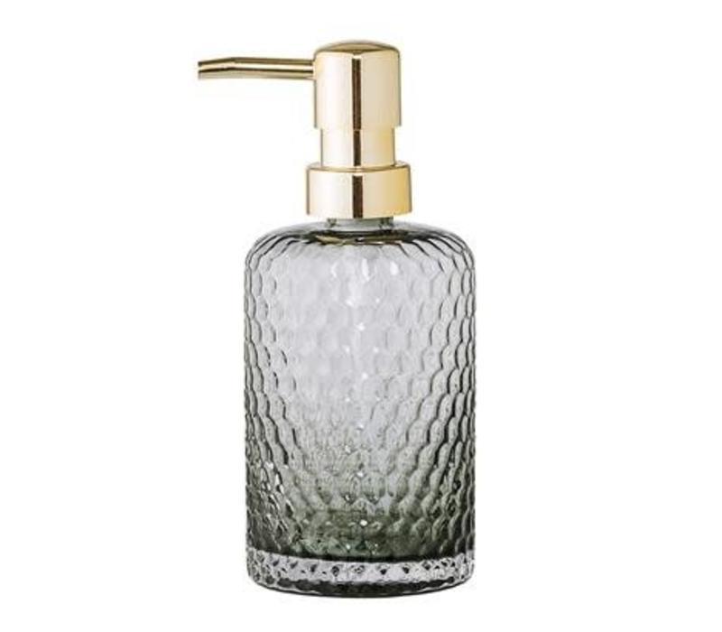 Soap Dispenser Glass Grey