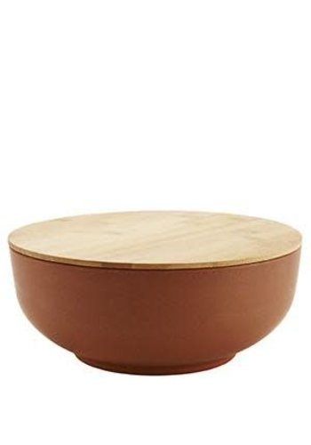 Madam Stoltz Bowl With Lid Camel Large