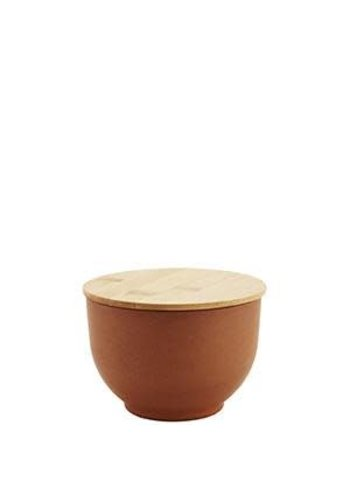Madam Stoltz Bowl With Lid Camel Small