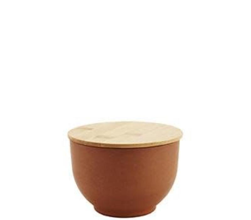 Bowl With Lid Camel Small