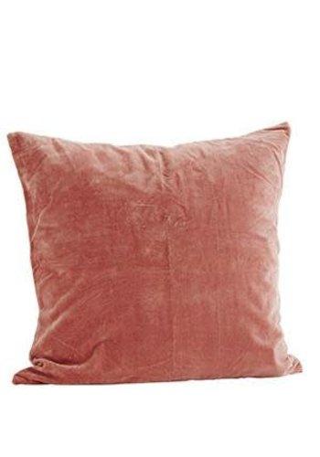 Madam Stoltz Velvet Cushion Dusty Rose