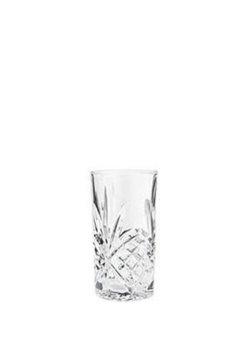 Madam Stoltz Longdrink Glass Cutted Clear