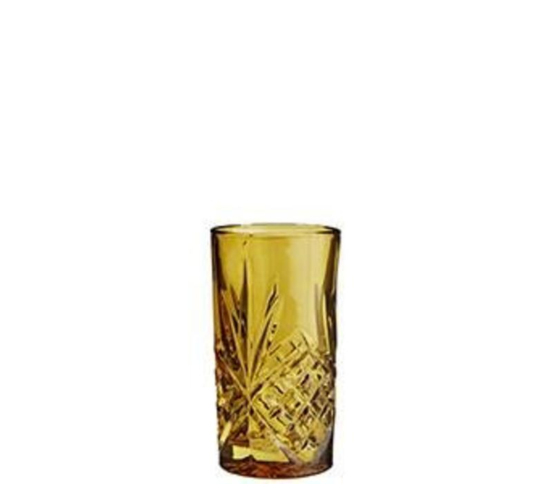 Longdrink Glass Cutted Amber