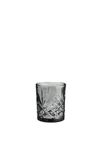Madam Stoltz Water Glass Cutted Grey