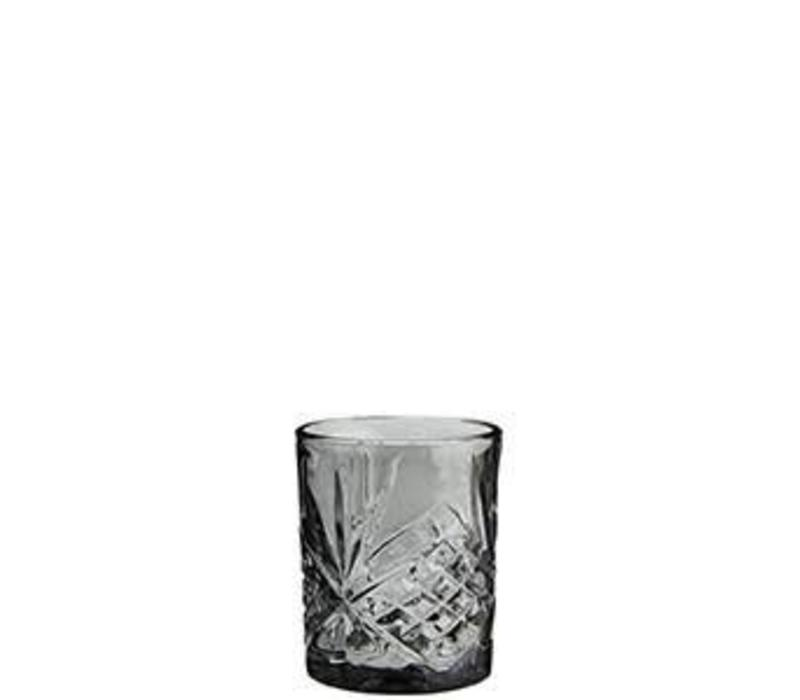 Water Glass Cutted Grey