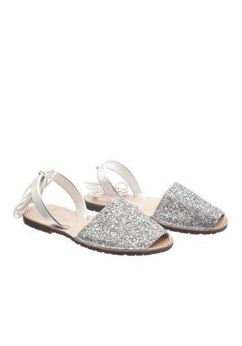 Les Soeurs Athena Sandals Silver Glitter