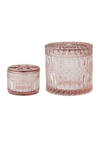 Bloomingville Jars With Lid Pink