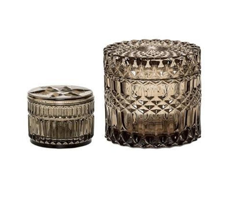 Jars With Lid Grey