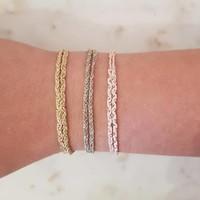 Rina Double Bracelet Grey Gold